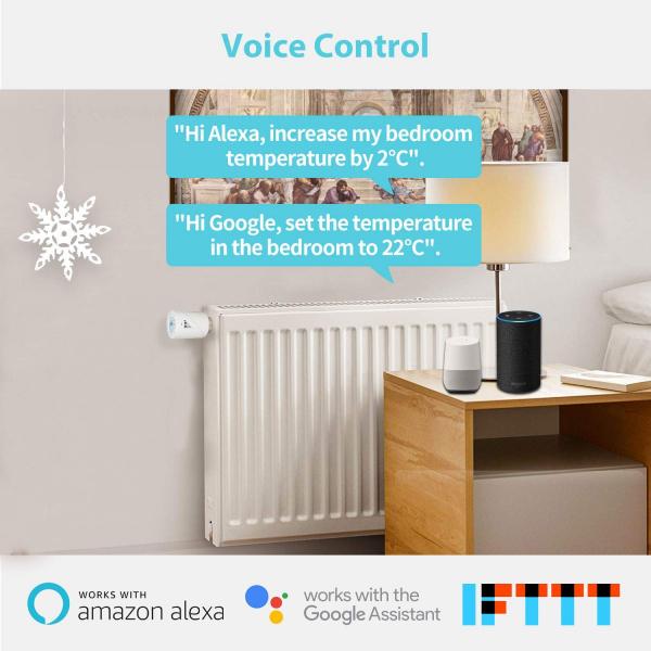 Kit Cap termostatic calorifer Meross MTS100H cu Hub, Smart, Alexa, Google Home, control smartphone 4
