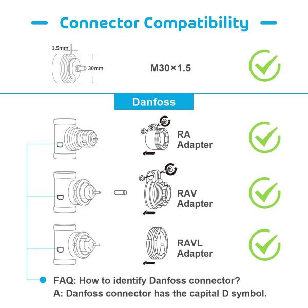 Kit Cap termostatic calorifer Meross MTS100H cu Hub, Smart, Alexa, Google Home, control smartphone 6