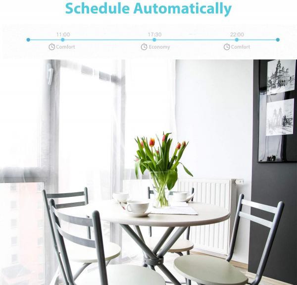 Cap termostatic calorifer Meross MTS100 Smart, Alexa, Google Home, control smartphone [5]