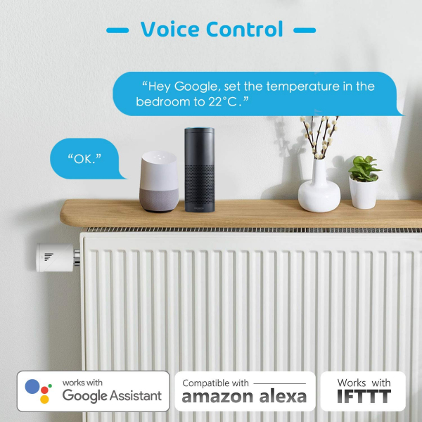 Cap termostatic calorifer Meross MTS100 Smart, Alexa, Google Home, control smartphone [7]