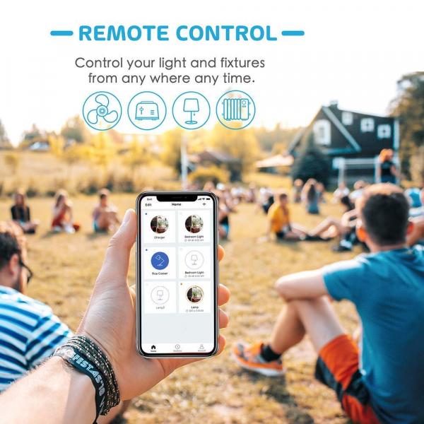 Prelungitor smart WiFi Meross MSS425F , 3 Prize, 4 x USB, Cablu 1.8m, Alexa, Google Assistant [7]