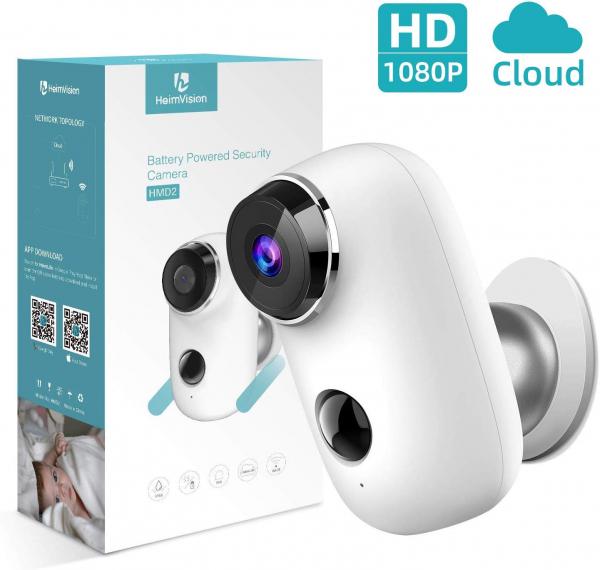 Kit Camera supraveghere de exterior WIFI HeimVision HMD2 cu panou solar  HMS1, 1080P cu nightvision, senzor miscare, notificare miscare, acumulator, audio bidirectional, WiFi, slot microSD card 1
