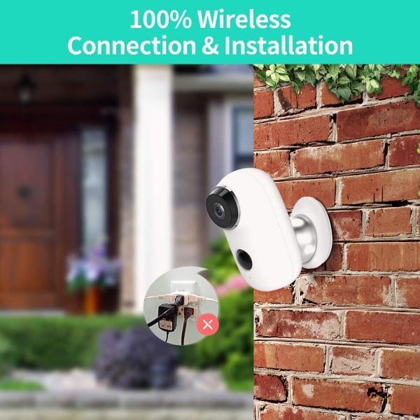 Kit Camera supraveghere de exterior WIFI HeimVision HMD2 cu panou solar  HMS1, 1080P cu nightvision, senzor miscare, notificare miscare, acumulator, audio bidirectional, WiFi, slot microSD card 2