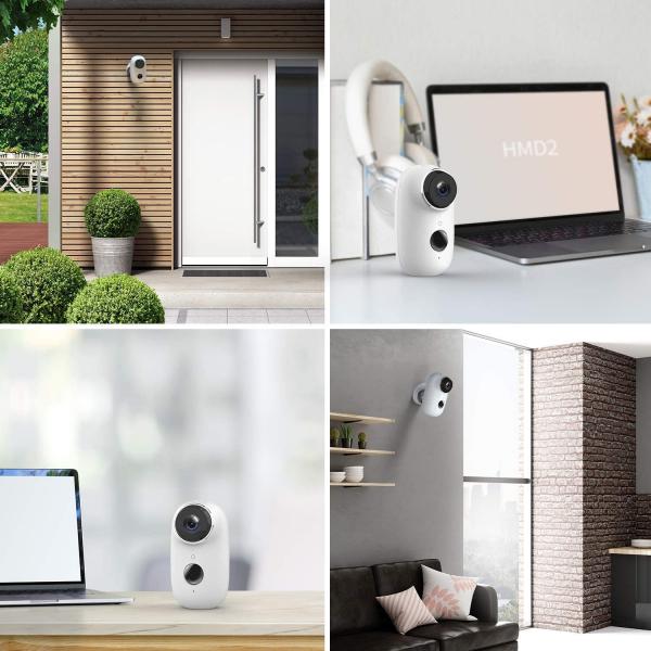 Kit Camera supraveghere de exterior WIFI HeimVision HMD2 cu panou solar  HMS1, 1080P cu nightvision, senzor miscare, notificare miscare, acumulator, audio bidirectional, WiFi, slot microSD card 4