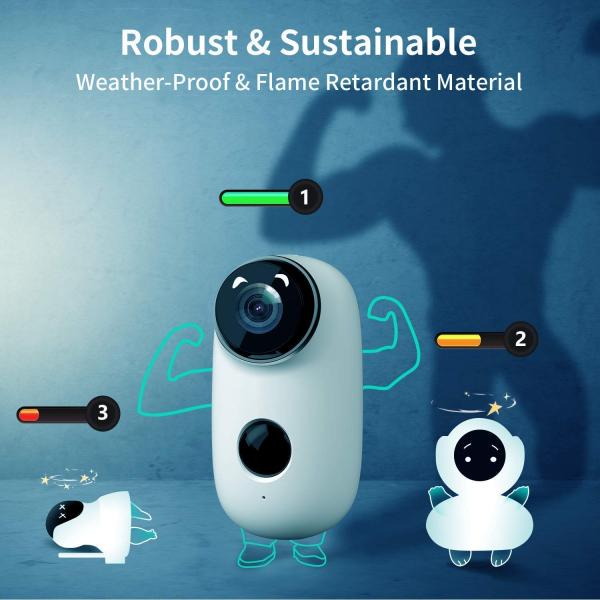 Kit Camera supraveghere de exterior WIFI HeimVision HMD2 cu panou solar  HMS1, 1080P cu nightvision, senzor miscare, notificare miscare, acumulator, audio bidirectional, WiFi, slot microSD card 6