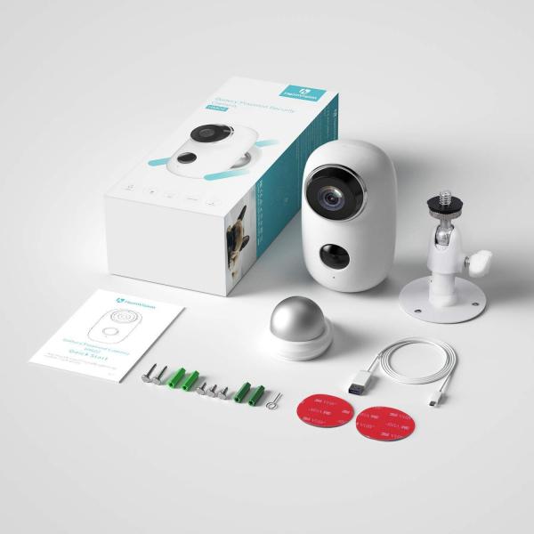 Kit Camera supraveghere de exterior WIFI HeimVision HMD2 cu panou solar  HMS1, 1080P cu nightvision, senzor miscare, notificare miscare, acumulator, audio bidirectional, WiFi, slot microSD card 7