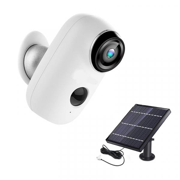 Kit Camera supraveghere de exterior WIFI HeimVision HMD2 cu panou solar  HMS1, 1080P cu nightvision, senzor miscare, notificare miscare, acumulator, audio bidirectional, WiFi, slot microSD card 0