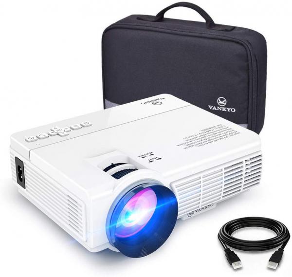 Mini Videoproiector Vankyo  Leisure 3, 3600 Lumeni, LED, HDMI, SD, AV, VGA, USB, Geanta de transport, Telecomanda, Cablu HDMI [0]