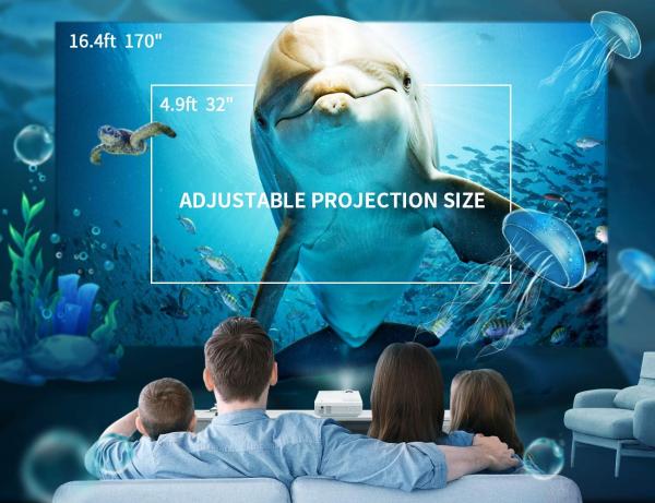 Mini Videoproiector Vankyo  Leisure 3, 3600 Lumeni, LED, HDMI, SD, AV, VGA, USB, Geanta de transport, Telecomanda, Cablu HDMI [2]