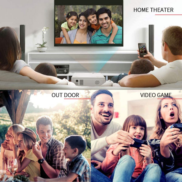Mini Videoproiector Vankyo  Leisure 3, 3600 Lumeni, LED, HDMI, SD, AV, VGA, USB, Geanta de transport, Telecomanda, Cablu HDMI - Resigilat [5]