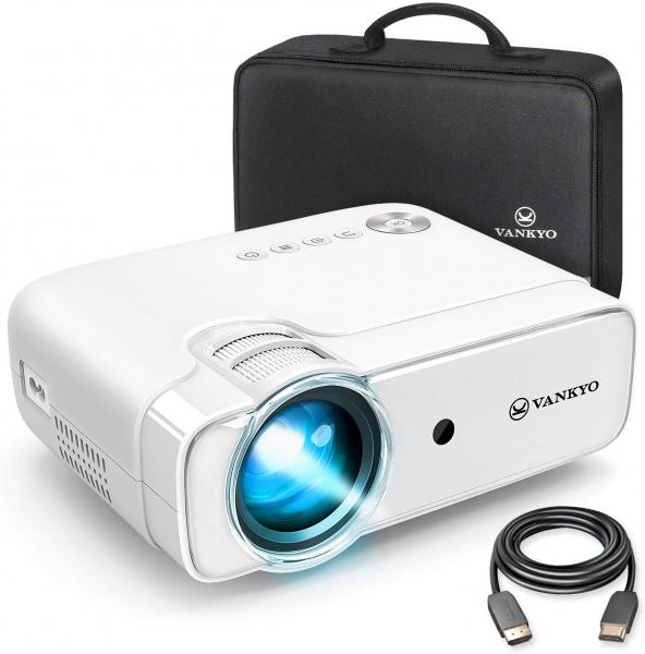 Videoproiector Vankyo  Leisure 430, 4000 Lumeni, LED, HDMI, SD, AV, VGA, USB, Geanta de transport, Telecomanda, Cablu HDMI 0