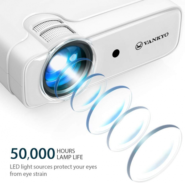 Videoproiector Vankyo  Leisure 430, 4000 Lumeni, LED, HDMI, SD, AV, VGA, USB, Geanta de transport, Telecomanda, Cablu HDMI 1