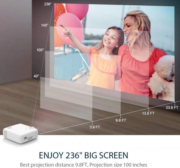 Videoproiector Vankyo  Leisure 430, 4000 Lumeni, LED, HDMI, SD, AV, VGA, USB, Geanta de transport, Telecomanda, Cablu HDMI 3