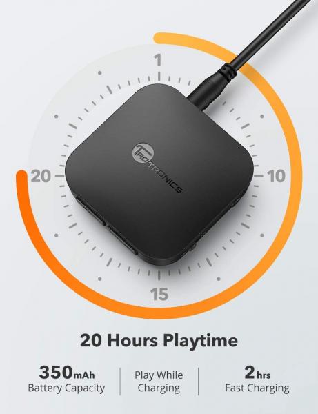 Adaptor Bluetooth Transmitator si Receptor Audio 2 in 1 TaoTronics TT-BA08, Bluetooth 5.0, conectare 2 casti simultan 4