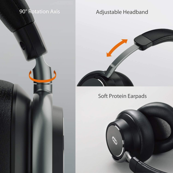 Casti audio TaoTronics TT-BH046, Hybrid Active Noise canceling, Bluetooth 5.0, True Wireless, cVc 6.0, Bas puternic si clar 1