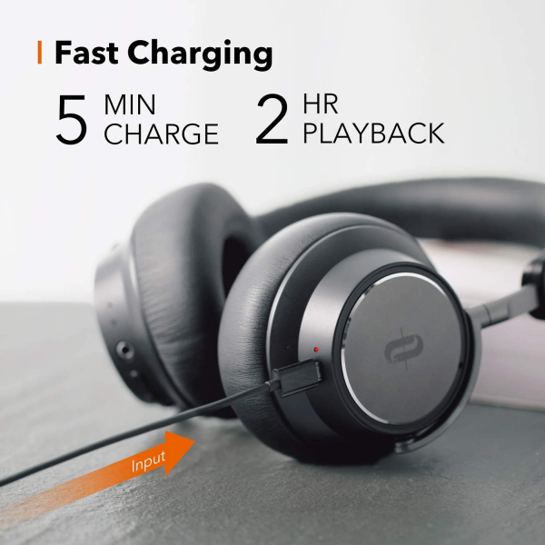 Casti audio TaoTronics TT-BH046, Hybrid Active Noise canceling, Bluetooth 5.0, True Wireless, cVc 6.0, Bas puternic si clar 4