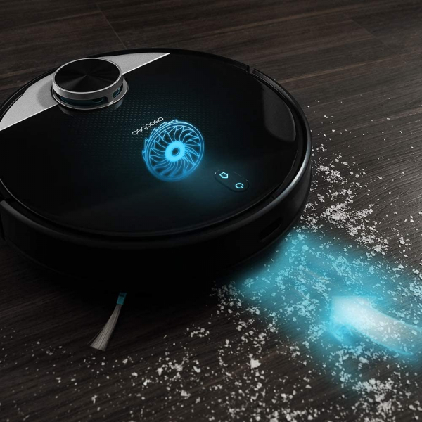 Robot de aspirare Cecotec Conga 3390, 4 in 1, 2300 Pa, Laser, Autonomie 150 minute, Rezervor lichide si praf, Functie mop, 2 perii centrale 1
