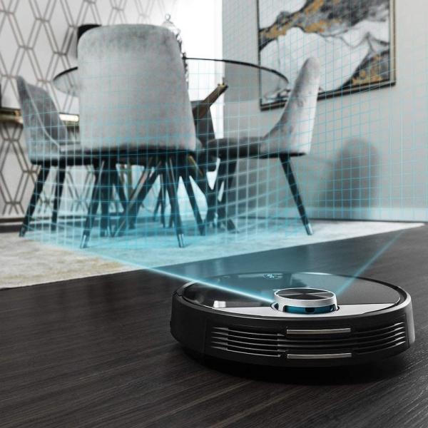 Robot de aspirare Cecotec Conga 3390, 4 in 1, 2300 Pa, Laser, Autonomie 150 minute, Rezervor lichide si praf, Functie mop, 2 perii centrale 3