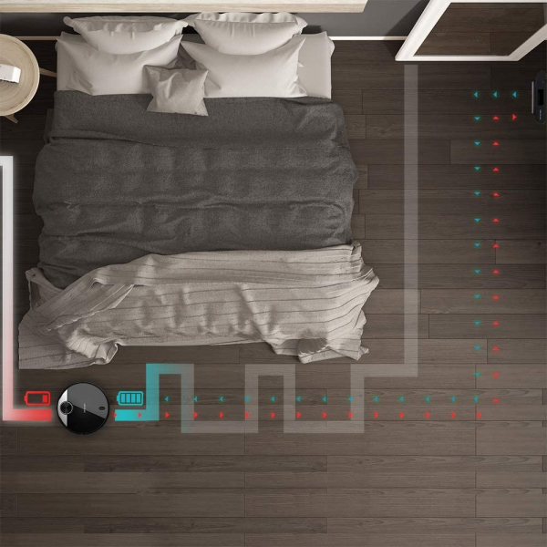 Robot de aspirare Cecotec Conga 3390, 4 in 1, 2300 Pa, Laser, Autonomie 150 minute, Rezervor lichide si praf, Functie mop, 2 perii centrale 4