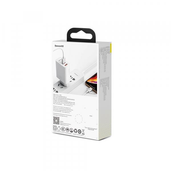 Baseus Incarcator de perete PPS QC3.0 2USB 30W Alb [5]