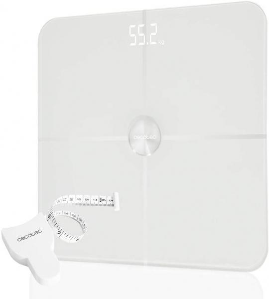 Cantar corporal Smart Cecotec Surface Precision 9600, Display LED, 10 valori masurate, BMI, Alb [1]
