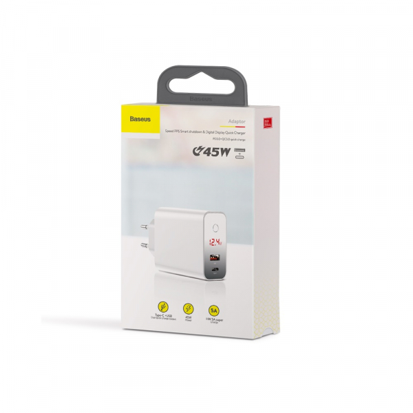 Baseus Incarcatorperete PPS QC USB + PD 45W 6