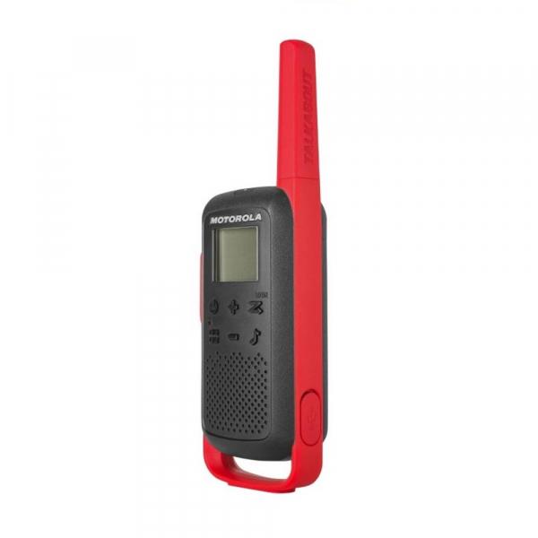Statie radio PMR portabila Motorola TALKABOUT T62 RED, set cu 2 buc 2