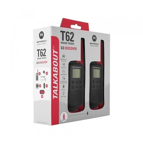 Statie radio PMR portabila Motorola TALKABOUT T62 RED, set cu 2 buc 3