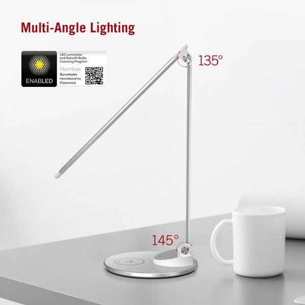 Lampa de birou LED TaoTronics TT-DL69, protectie ochi, control touch, Incarcare Telefon Wireles si USB [1]