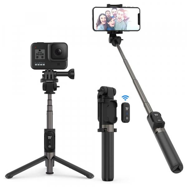 Selfie Stick Tripod TaoTronics TT-ST002, 3 in 1 cu Telecomanda Bluetooth detasabila 0