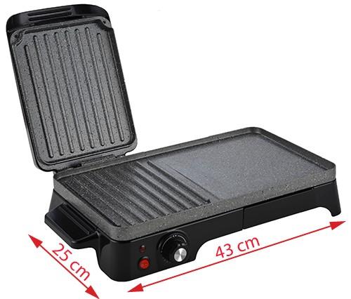 Gratar Grill Electric Adler AD 6608, Putere 2200W, Reglare Temperatura, Termostat [1]