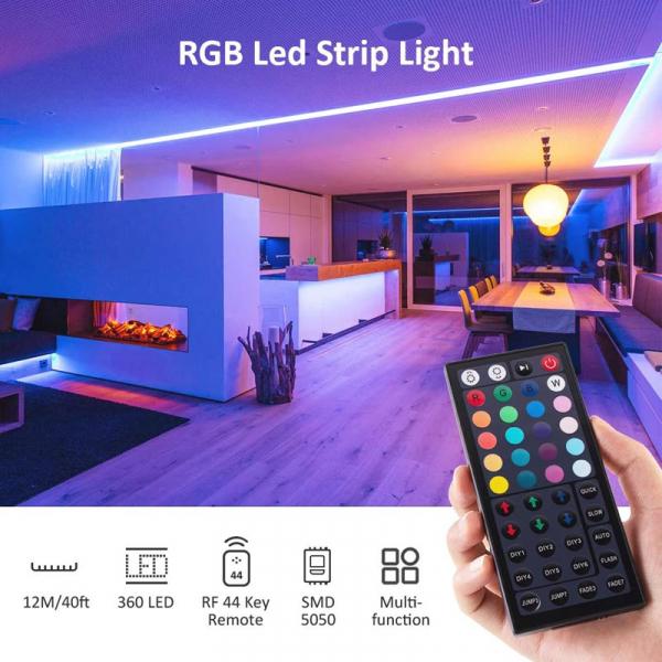 Banda LED RGB Novostela 12m, 360 Leduri, Telecomanda RF cu 44 butoane 1