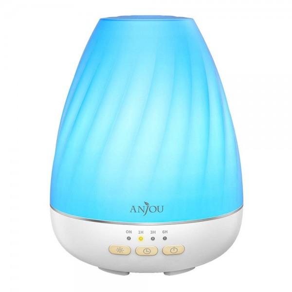 Difuzor aroma cu Ultrasunete Anjou ADA003, 200ml, 13W, LED 7 culori 1