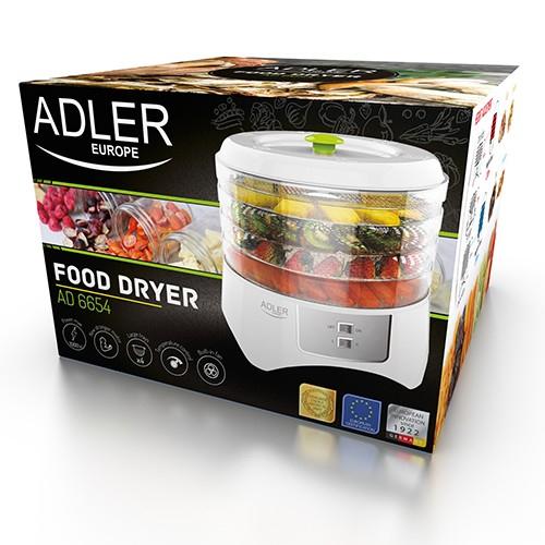 Deshidrator de alimente ADLER AD 6654, 400 W, 4 Tavi, 2 Trepte temperatura 1