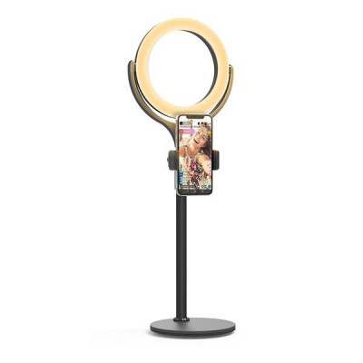 Lampa Circulara LED BlitzWolf BW-SL4 Make up Profesionala, Ring Light 64 Leduri cu Lumina Rece/Calda Tip Inel [0]