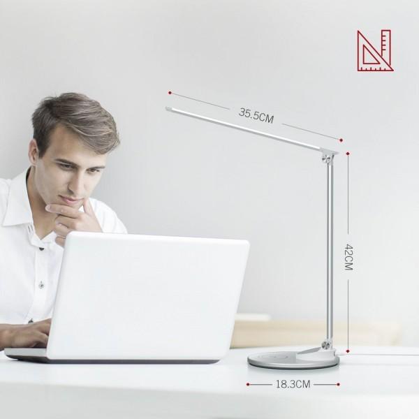 Lampa de birou LED TaoTronics TT-DL69, protectie ochi, control touch, Incarcare Telefon Wireles si USB [2]