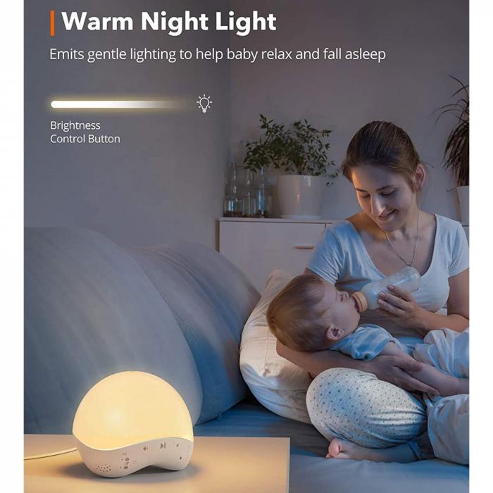 Lampa de veghe Smart TaoTronics TT-CL023, RGB, control din telefon, 25 de sunete, control Alexa si Google [2]
