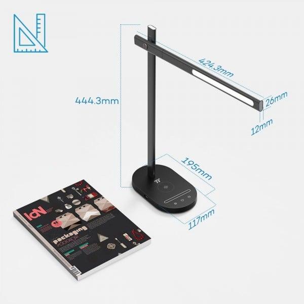 Lampa de birou LED TaoTronics TT-DL31, protectie ochi, control touch, Incarcare Telefon Wireles si USB 2