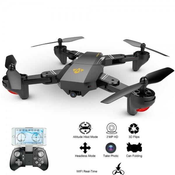 Drona Visuo XS809HW Camera 2Mp cu transmisie pe telefon, altitudine automata, brate pliabile 2
