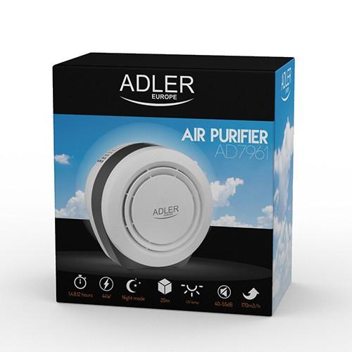 Purificator de aer ADLER AD 7961, 45 Wati, Filtru HEPA, Lampa UV, Filtru fotocatalictic ,Functie ionizre 2