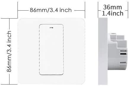 Intrerupator Smart Meross MSS550 WiFi, 2 sensuri 4