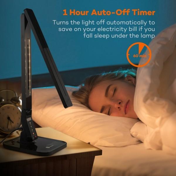 Lampa de birou LED TaoTronics TT-DL01 control Touch, 4 moduri, 14W, USB [3]