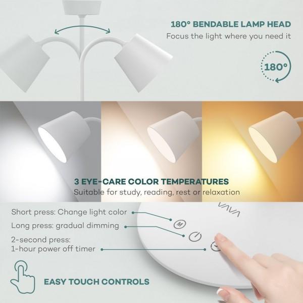 Lampa de birou LED VAVA VA-DL29, 3 modri de lumina, cu reglare touch a Intensitatii 3
