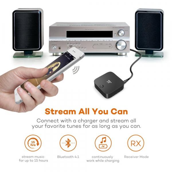 Transmitator si Receptor Audio Bluetooth TaoTronics TT-BA09 Portabil, Bluetooth 4.1, aptX, Cablu Optic & Jack 3.5mm [3]