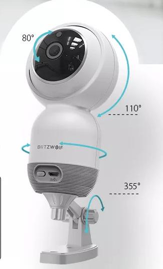 Camera de supraveghere IP- WI FI 1080P, Detectare micare, Infrarosu, 2Mp, Conectare Telefon [3]