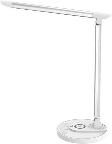 Lampa LED de birou TaoTronics TT-DL036, cu incarcator wireless, control touch, USB, 12W, 410 lm, Alb 0