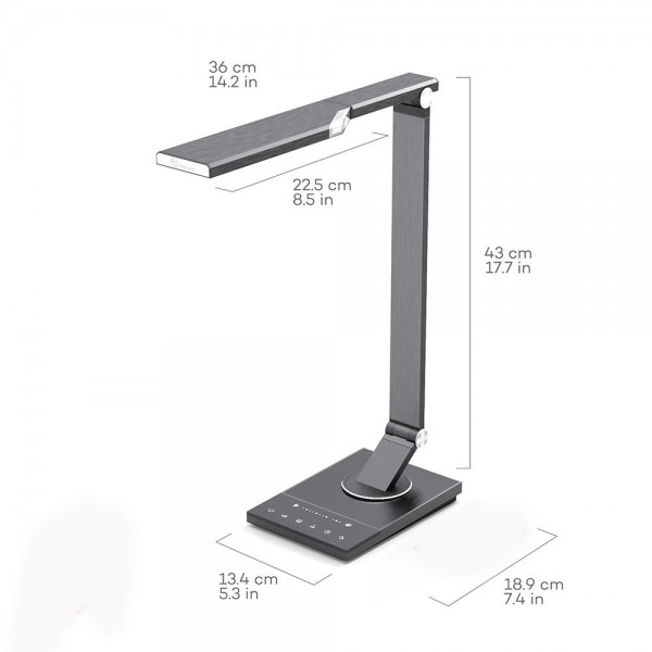 Lampa de birou LED TaoTronics TT-DL16, protectie ochi, control touch, 5 moduri, USB, lumina de noapte [4]