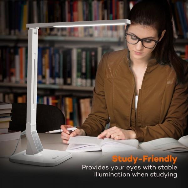 Lampa de birou LED TaoTronics TT DL02 control Touch, 4 moduri, 14W, USB - Alba 4