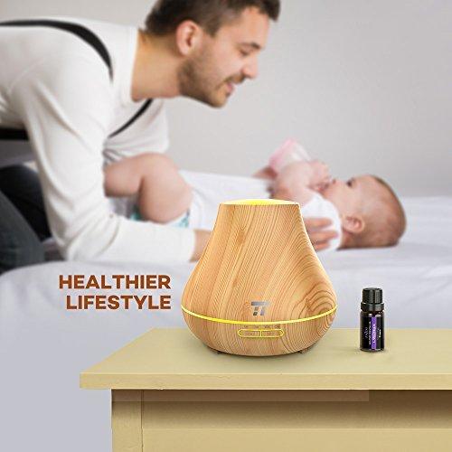 Pachet Difuzor Aromaterapie cu Ultrasunete TaoTronics TT-AD004 cu Set 6 uleiuri esentiale [9]