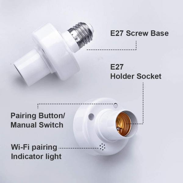 Dulie Smart WiFi + RF 433 Sonoff Slampher R2, E27 8